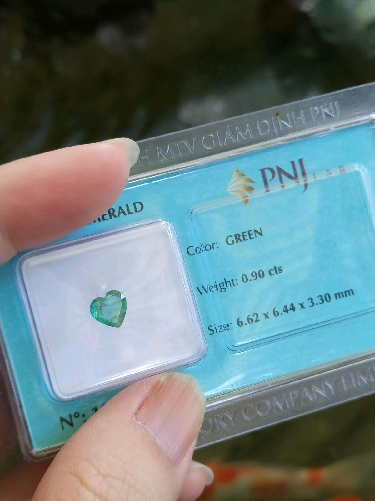 Ngọc Lục Bảo giác trái tim đã kiểm định PNJ