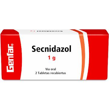 Secnidazol Genfar 1G   Tabletas Caja X2Tab.