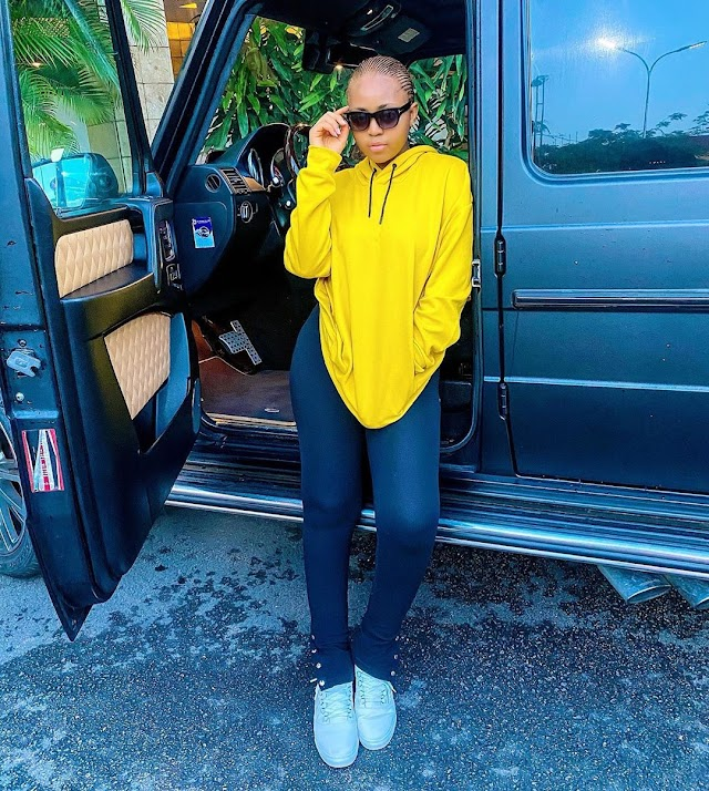 Regina Daniels slays on her first picture after birth | SEE PHOTOS