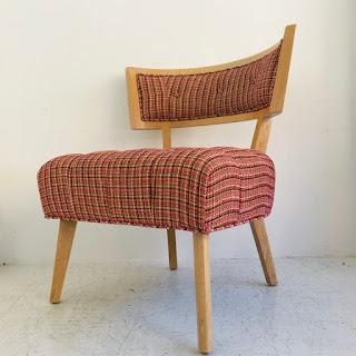 Pink Tweed Side Chair #1