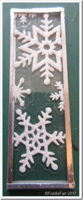 Snowflake Christmas Microscope Slide.