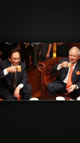 Najib dan Anwar Bakal Cium Mulut