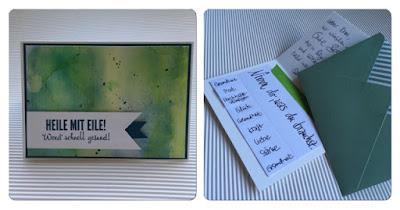 Selbst gebastelte Karte für Gute Besserung mit Produkten von Stampin Up