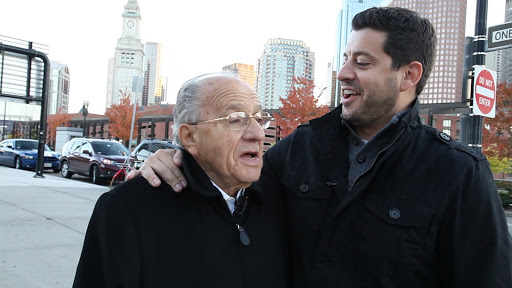 Mario and Sandro Corsaro. Mario is a 90 year old Italian immigrant and Boston legend with a passion for finding the right pair of shoes. From the film Pursuing Happiness