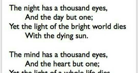 the night has a thousand eyes essay