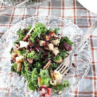 Kale, Apple, and Wild Rice Salad.