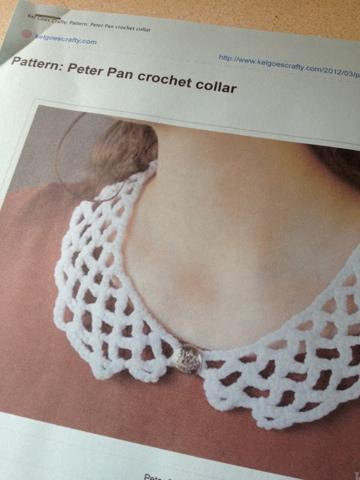 Teacup Lane Peter Pan Crochet Collar