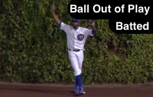 Batted Ball Bounces Out of Play