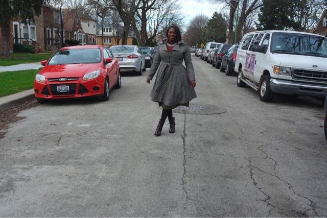 Tweed Brown Plus Size Coat