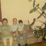 Auntie Sarah and Uncle Morris and me, Hessel as a small kid..jpg