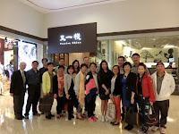 吳家駰(Vancouver)、黃培輝與李素貞(Boston)訪港,2015年4月16日與同學在又一棧餐聚