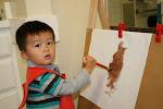 LePort Montessori Preschool Toddler Program Huntington Beach -  painting time