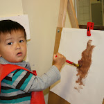 LePort Montessori Preschool Toddler Program Huntington Beach -  painting time