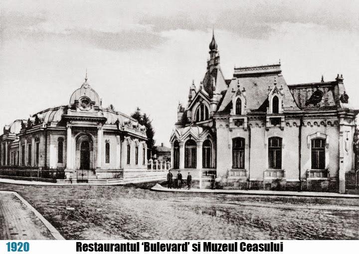 Restaurant Bulevard si Muzeul Ceasului, Ploiesti 1920