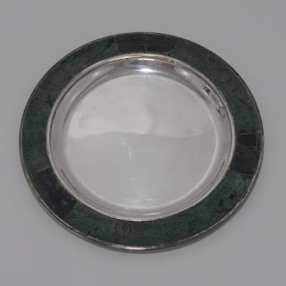 Silver and Stone Trinket Dish