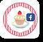 ケーキイラストのフェイスブックページフォローボタン