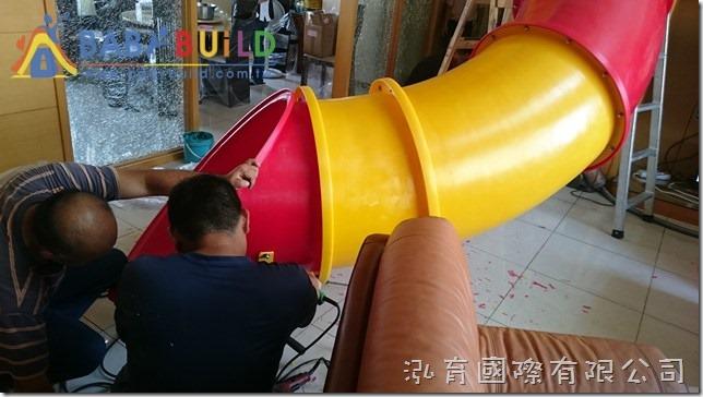 BabyBuild 住宅樓中樓隧道螺旋滑梯施工組裝