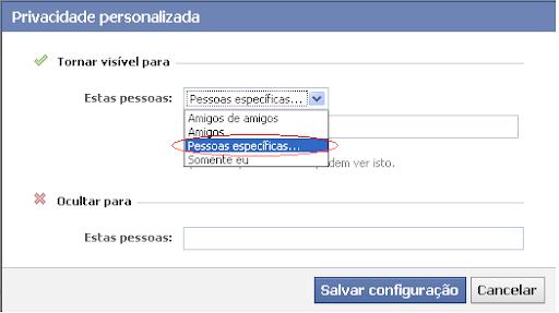 Facebook alterar opçoes de privacidade