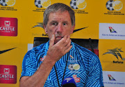 Bafana Bafana head coach Stuart Baxter during the South African national men's soccer team press conference at Fusion Boutique on November 06, 2017 in Polokwane, South Africa.