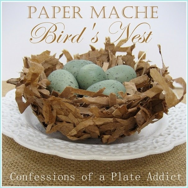 CONFESSIONS OF A PLATE ADDICT Paper Mache  Bird's Nest