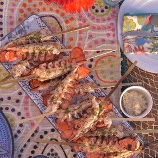 Grilled Maine Lobster Tails with Herb Compound Butter