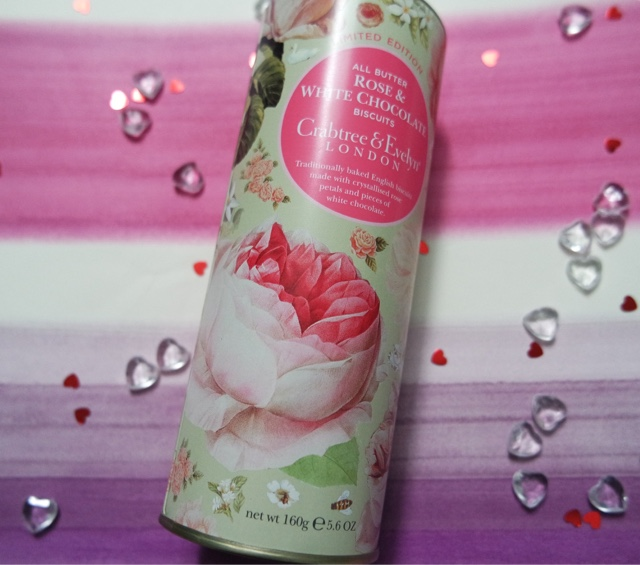Crabtree & Evelyn - All Butter Rose & White Chocolate Biscuits