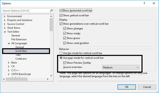 Visual Studio enhanced scrollbar