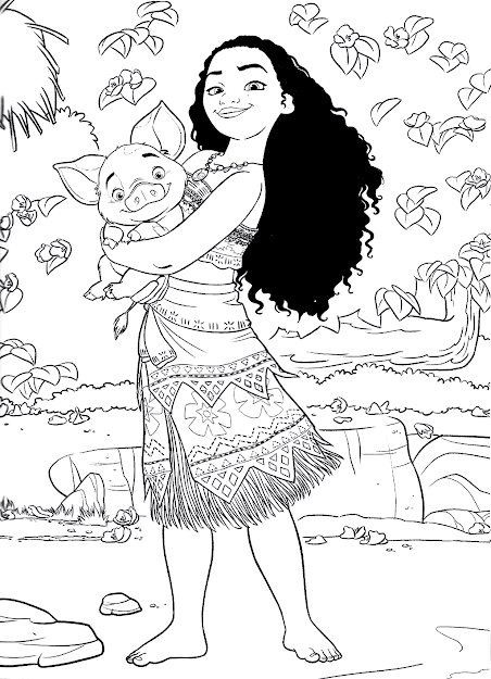 Top  Moana Coloring Pages Free Printables