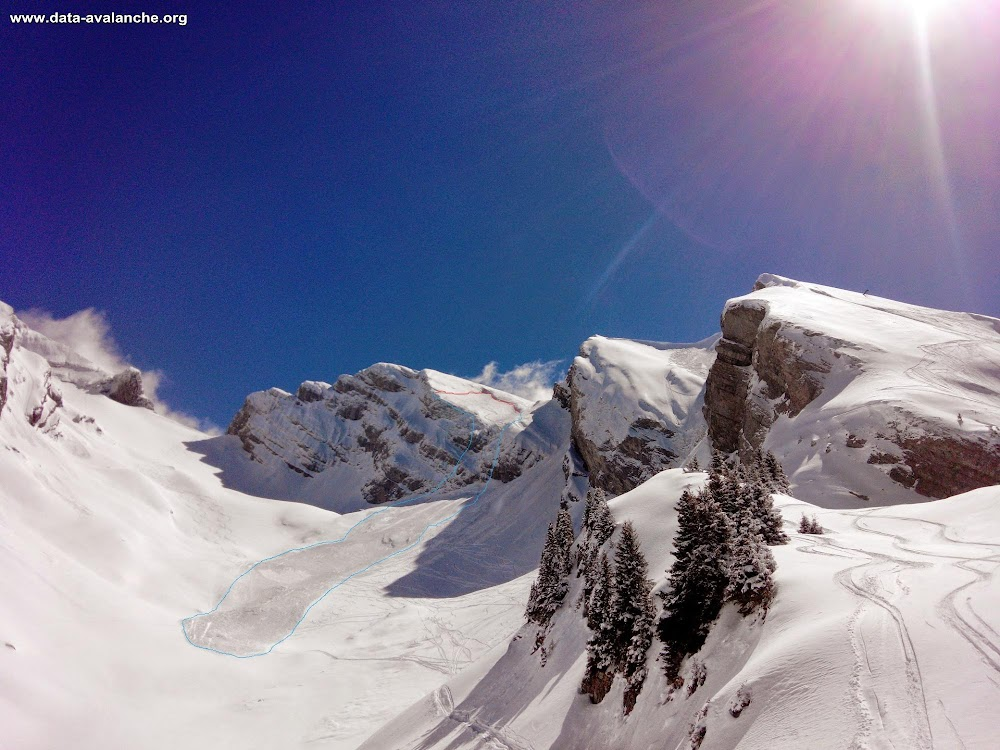 Avalanche Aravis, secteur Aiguille de Borderan, Couloir de la Lana - Combe Creuse - Photo 1