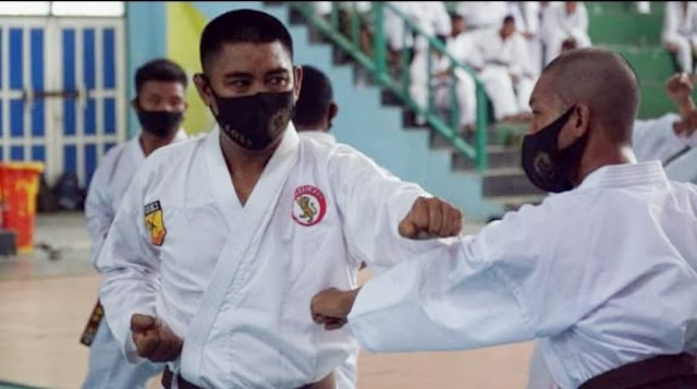 234 Karateka Kodim 1011 Kapuas Ikuti Ujian Kenaikan Tingkat