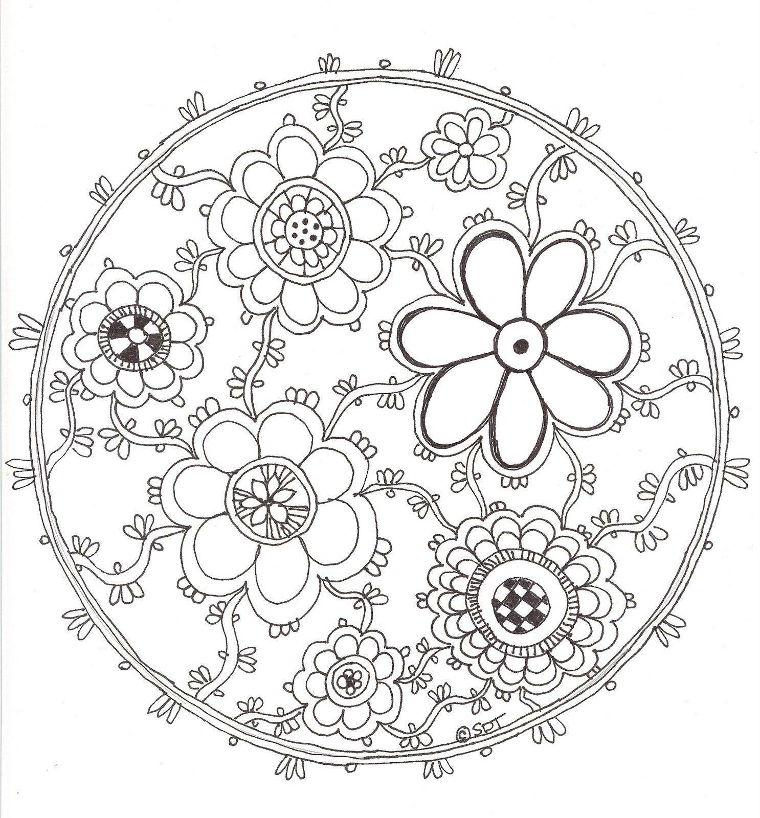 Unique lotus flower mandala coloring pages design lotus flower mandala to color mightylinksfo