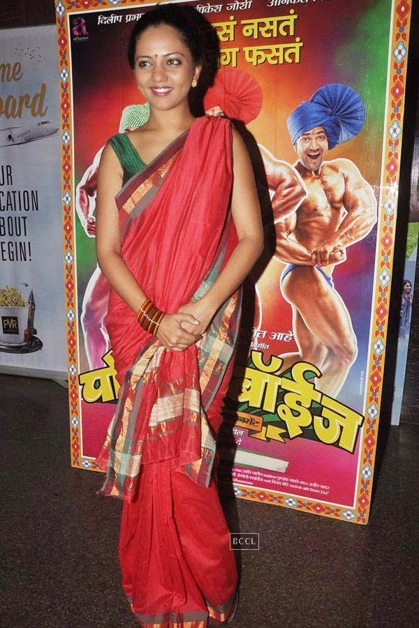 Neha Joshi during the screening of Poshter Boyz, in Mumbai, on July 30, 2014. (Pic: Viral Bhayani)