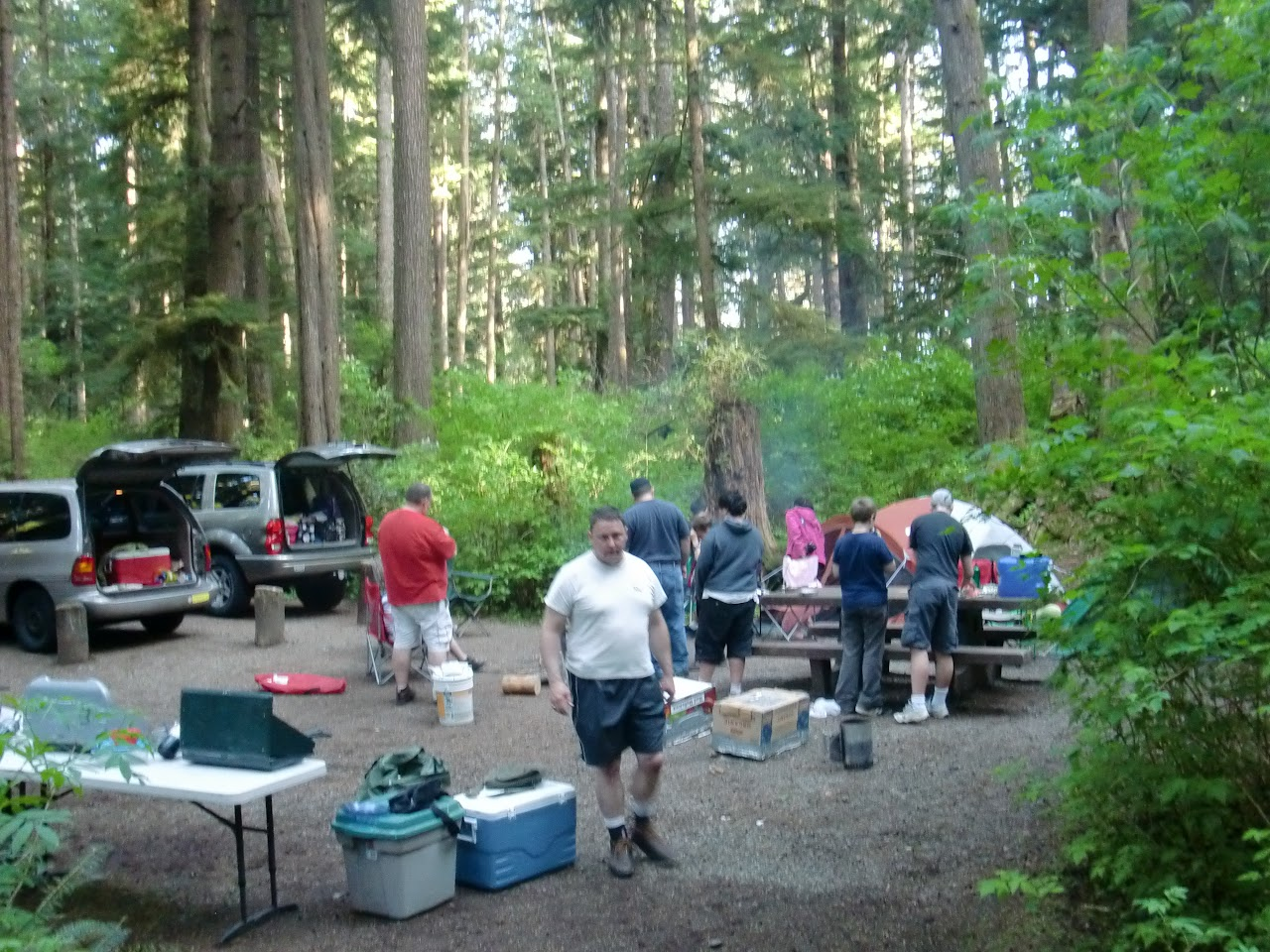 Base camp at Mora Campground