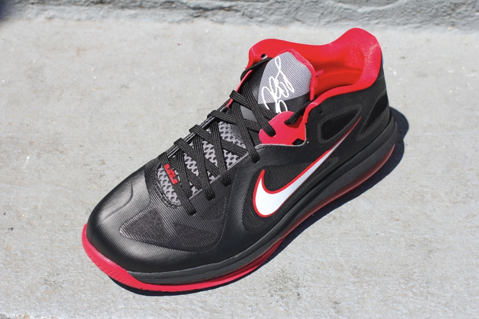timeless design e9eae ccbe8 ... Nike LeBron 9 Low 8211 Black White Red 8211 Available
