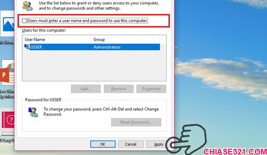 đăng nhập Windows 10 khi khởi động máy tính