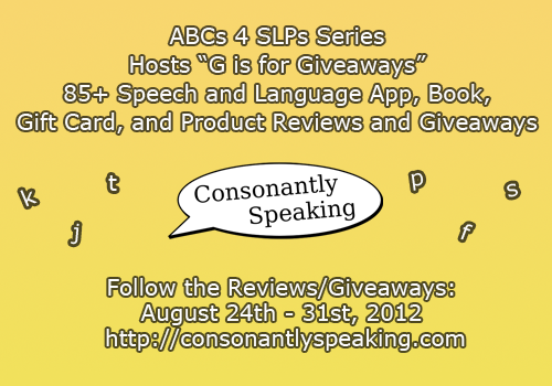 G is For Giveaways Banner Consonantly Speaking