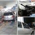 Carro invade farmácia no semáforo do posto Rodeadouro no bairro Piranga