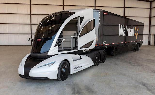 Autonomous Walmart self driving truck
