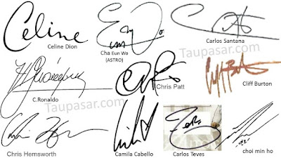 contoh tanda tangan huruf C simple