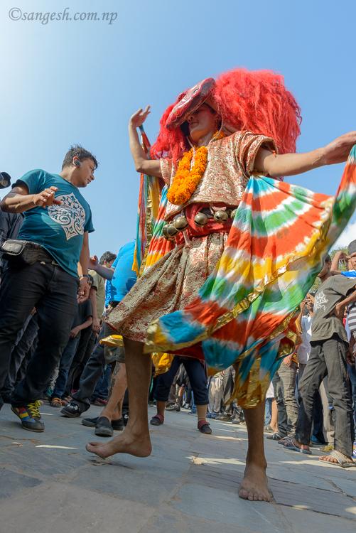 Lakhe, aju, nepal, festivals, dance