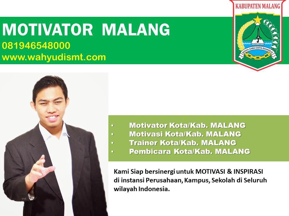 Jasa Motivator Malang | Motivator Terkenal Di Malang