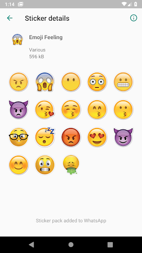 Big Emoji Stickers (WAStickerApps) 1.3.1 screenshots 2