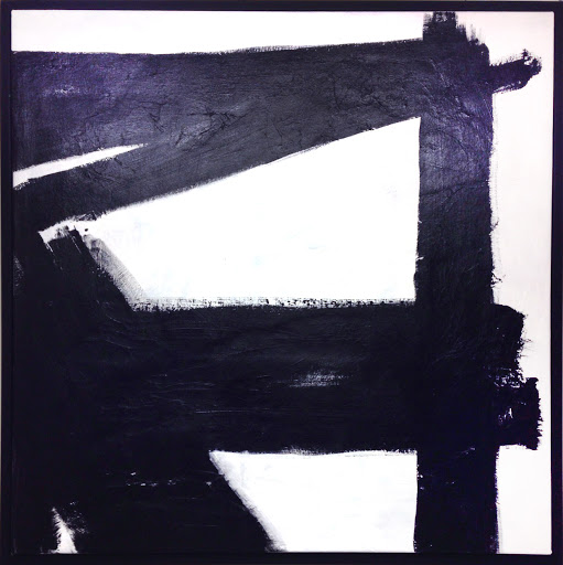 Crossroads 37x37 - Acrylic on canvas – framed. Artist Manny Martins-Karman