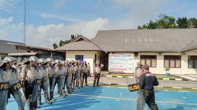 ASTA SIAP Personel, Polres Sekadau Tingkatkan Latihan Dalmas Jelang Ops Mantap Praja Kapuas