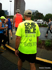 Spotted this shirt on the way to our starting corral. ATC encouraged everyone to wear blue and yellow in honor of the Boston Marathon bombing victims.