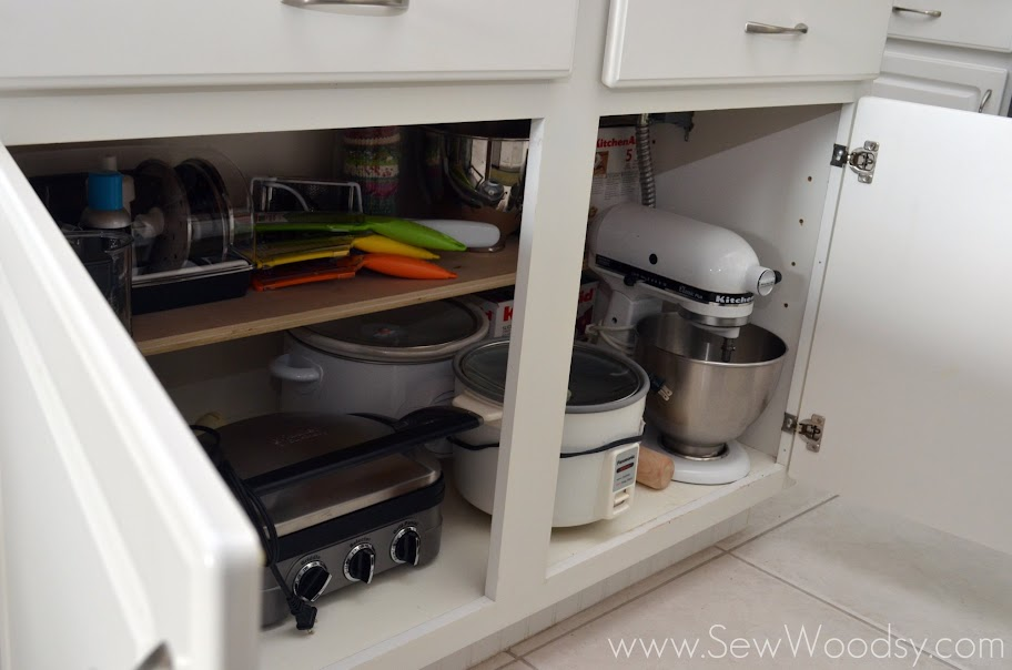 organize your kitchen island... build a shelf