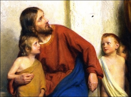 Let the Little Children Come unto Jesus by Carl Bloch