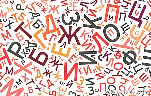 russian alphabet background