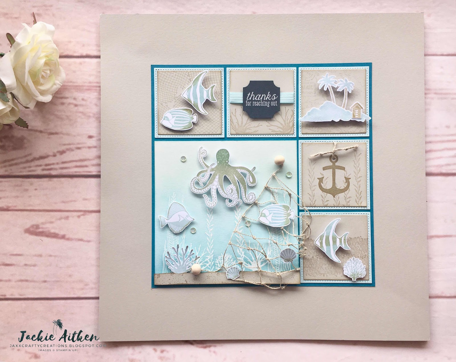 sea of textures, stampin up, sampler