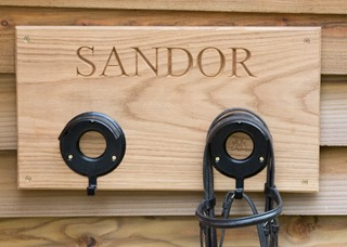 personalised bridle rack